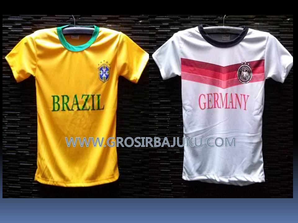 Produsen Kaos Bola Piala Dunia Grosir 2014 Brazil jerman