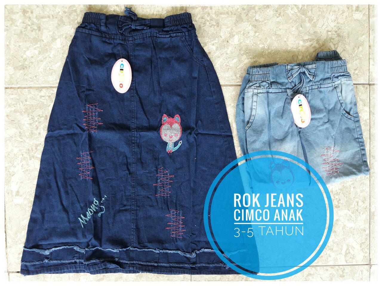 distribautor rok jeans anak murah