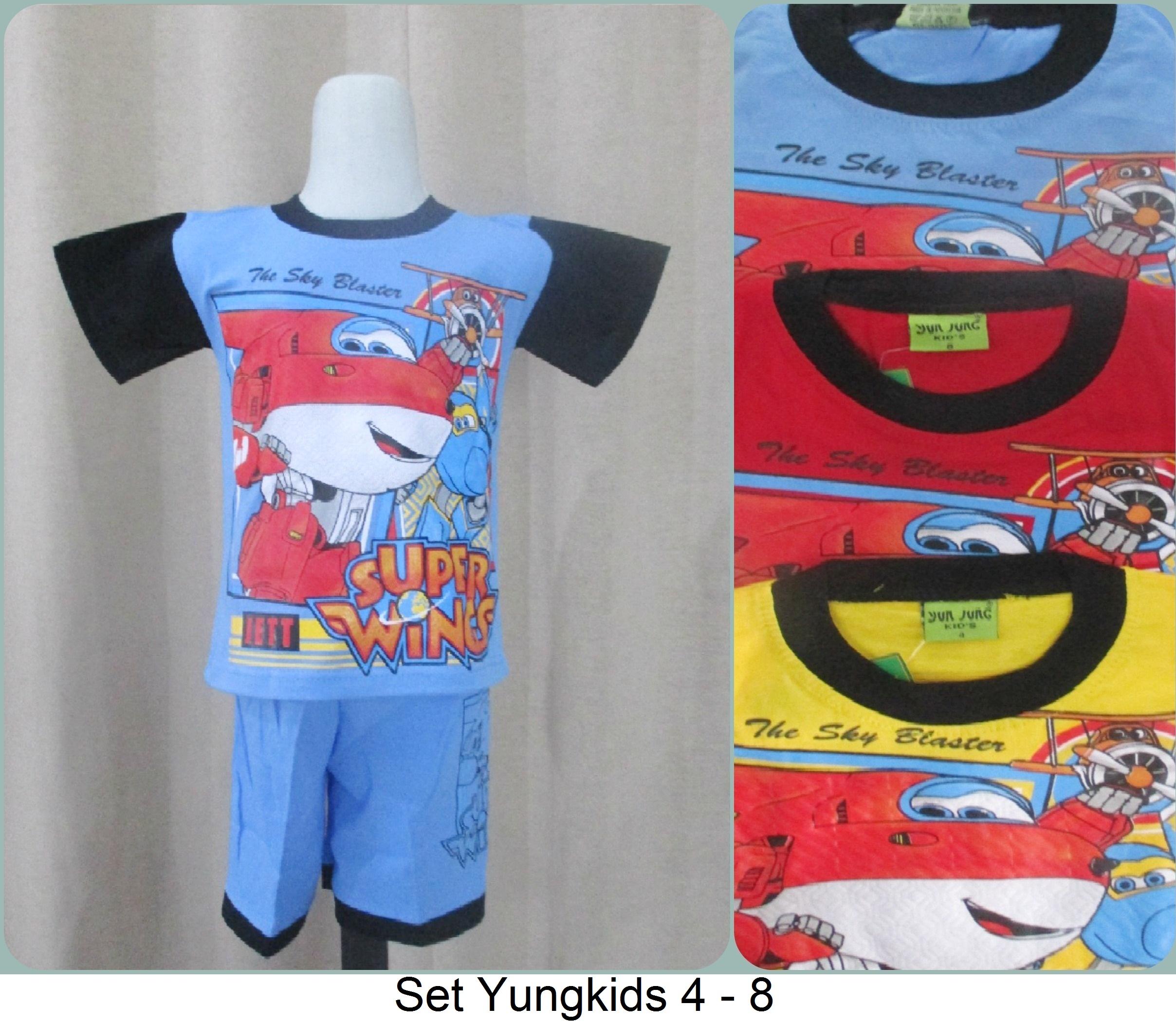 Setelan Yung Kids 4 - 8 Termurah