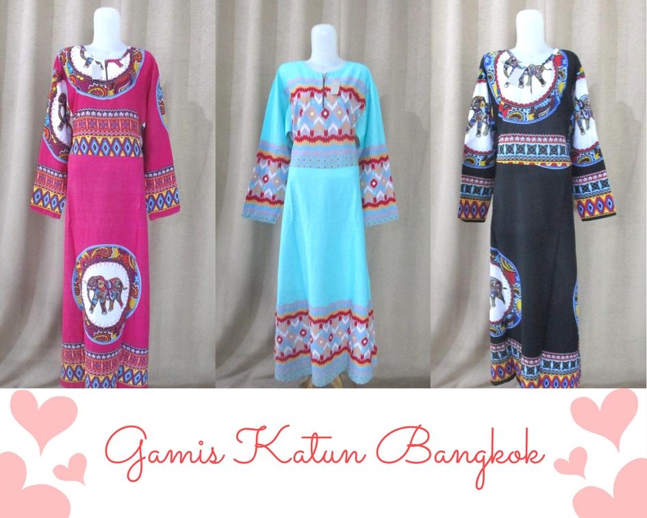 Gamis Katun Bangkok (3)