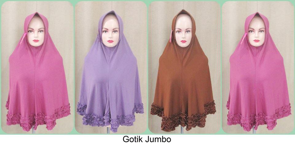 jilbab gotik jumbo