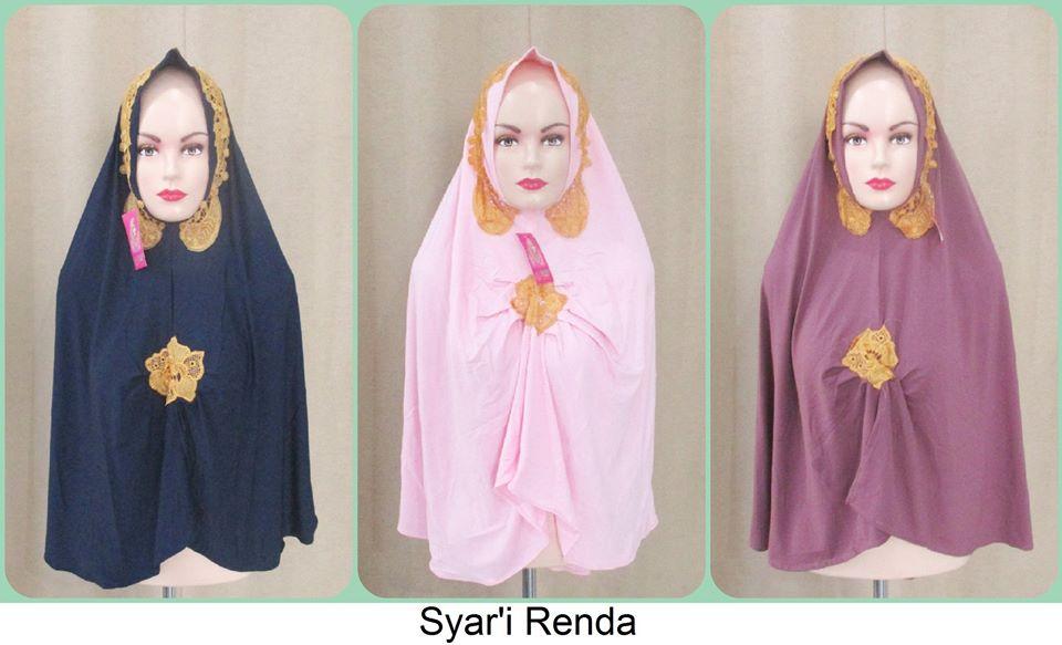 jilbab syar'i renda