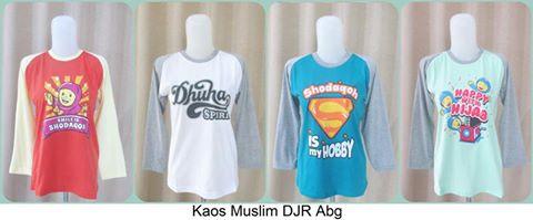Kaos Muslim DJR ABG murah
