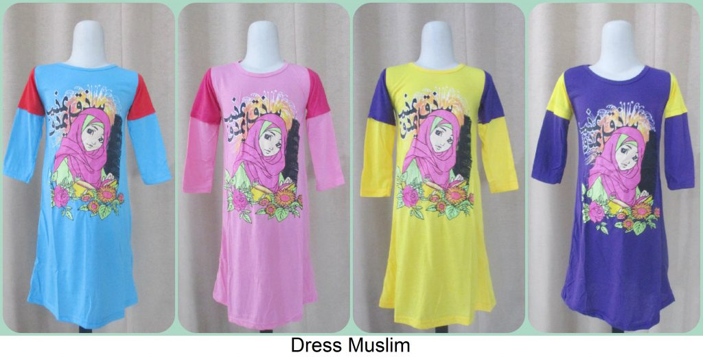 Sentra Grosir Dress Muslim Anak Murah
