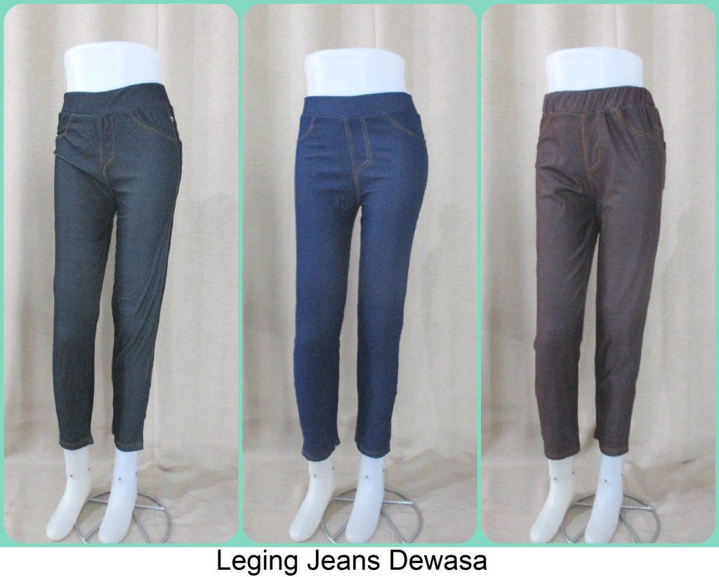 Sentra Grosir Leging Jeans Dewasa Termurah Tanah Abang