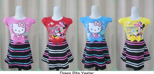 Grosiran Dress Pita Yestar Terbaru Branded Murah