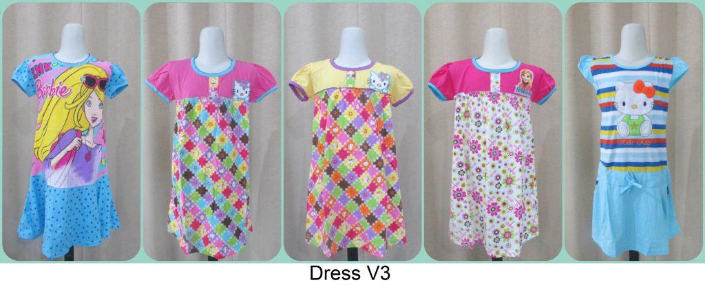 Pusat Grosir Dress V3 Anak Terbaru Murah