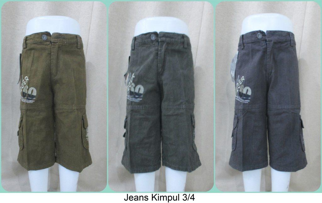 Pusat Grosir Jeans Kimpul 3/4 Anak Termurah Cikarang