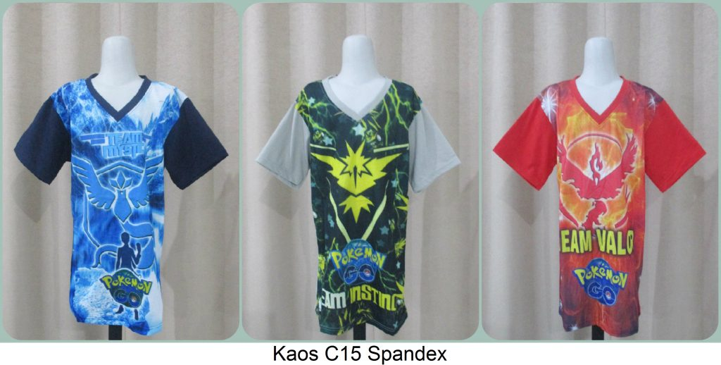 Pusat Grosiran Kaos C15 Spandek Anak Termurah