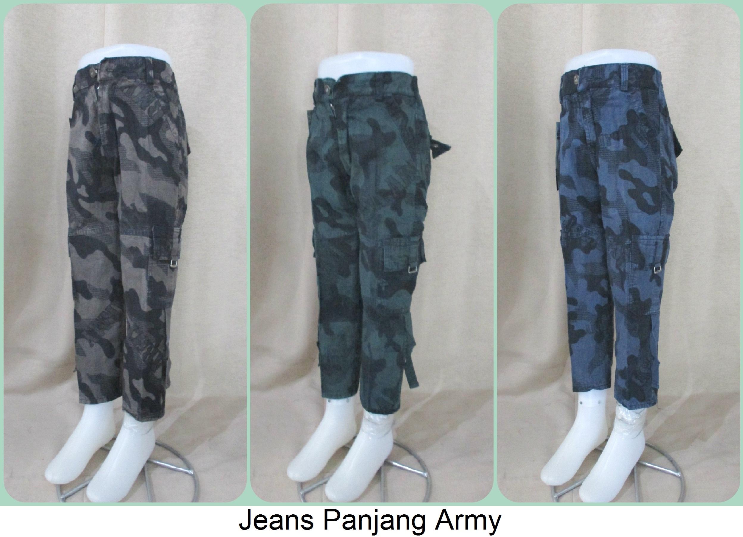 Pusat Grosiran Jeans Panjang Army Anak Terbaru Branded