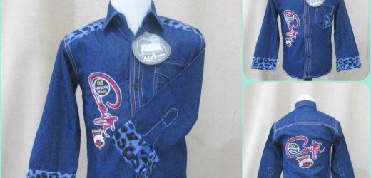 Pusat Grosir Kemeja Jeans Bordir TP Anak Termurah