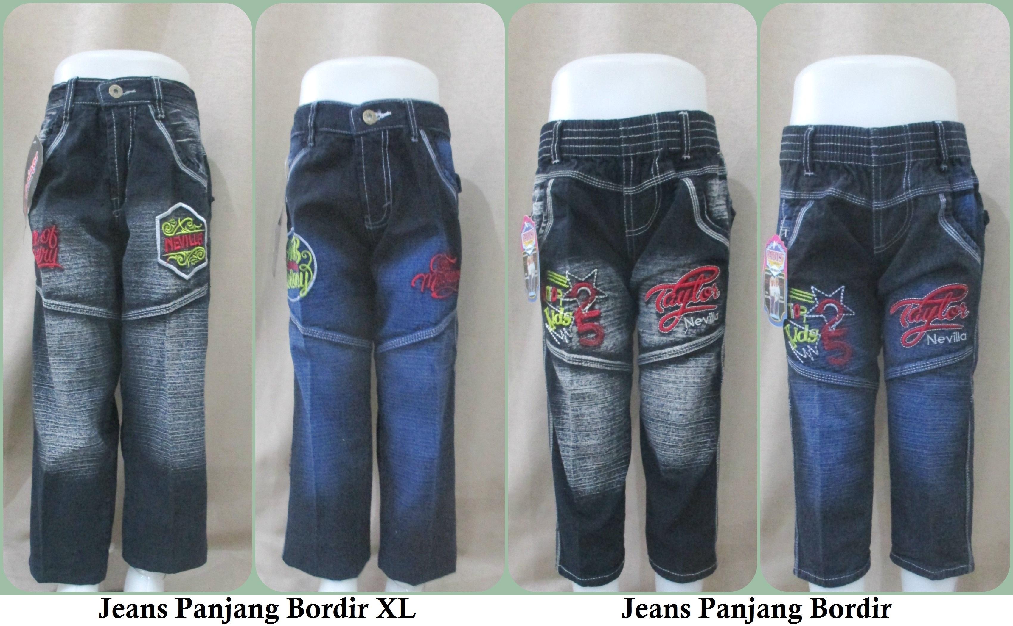 Sentra Grosir Jeans Bordir Panjang dan Jeans Bordir XL Murah