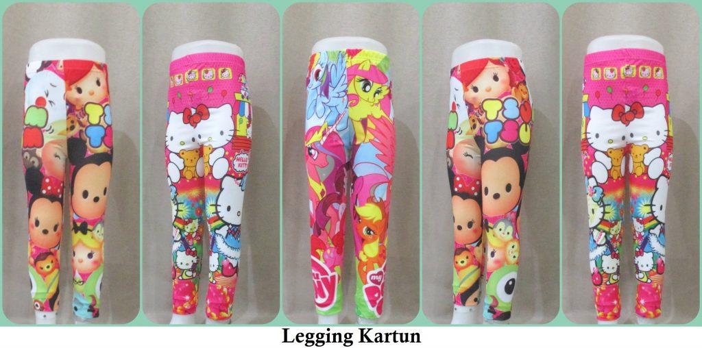 Sentra Grosir Celana Legging Kartun Anak Karakter Murah 17ribu Grosirbajuku Com