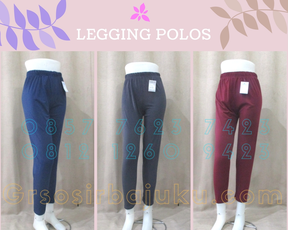 Sentra Grosir Celana Legging Polos Wanita Murah