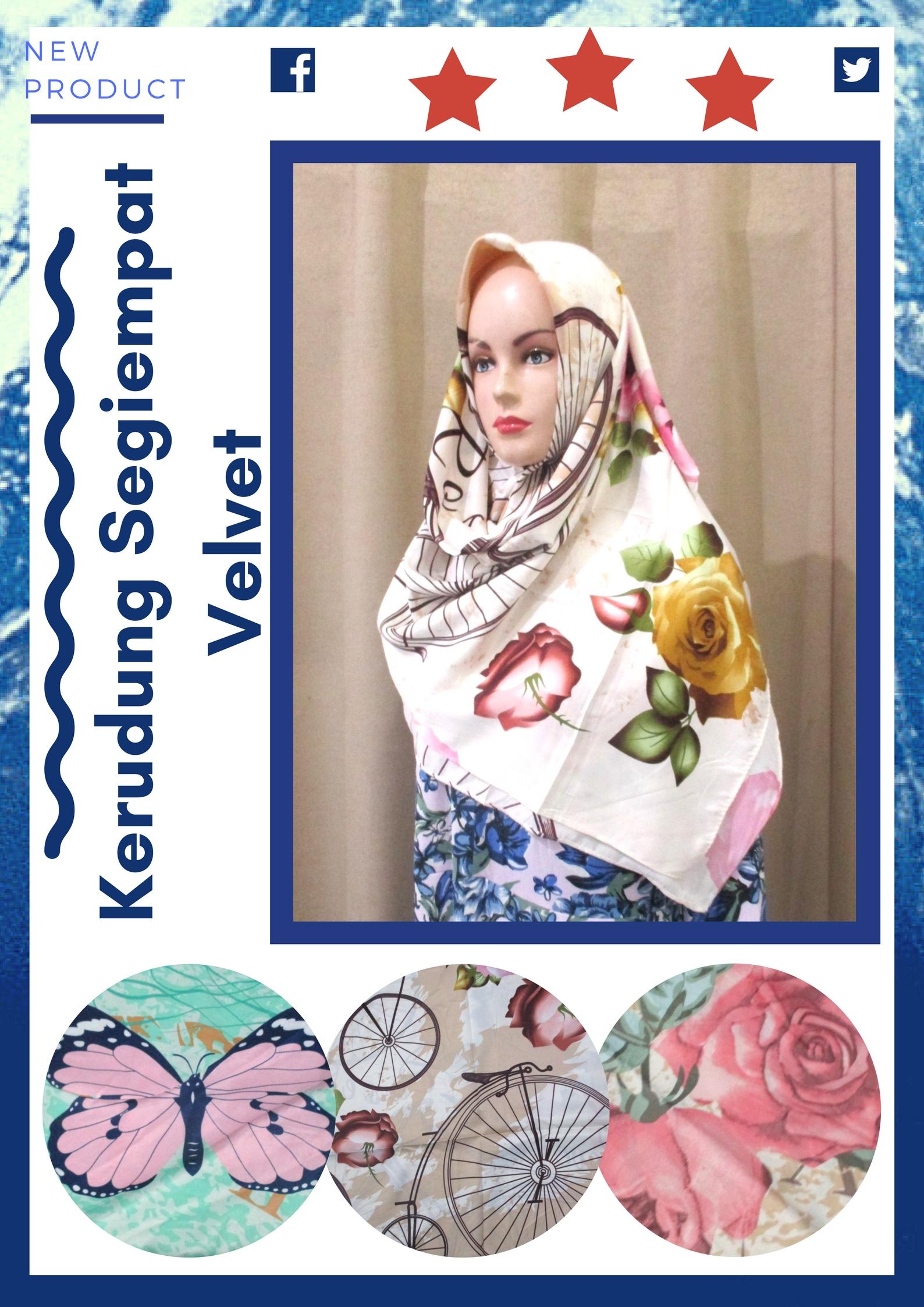 Grosir Kerudung Segiempat Velvet Wanita Dewasa Murah