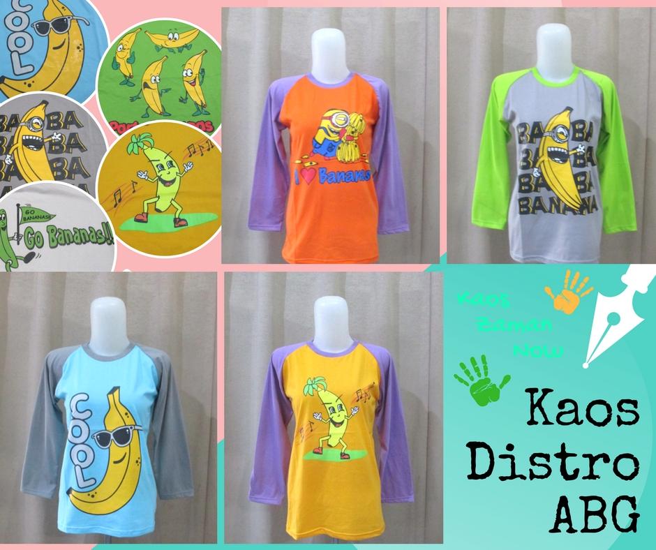 Pusat Grosir Kaos Distro ABG Karakter Banana Murah