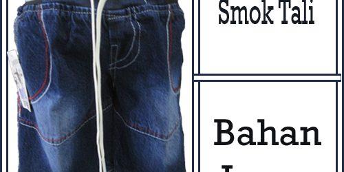 Grosir Celana Jeans Smok Tali Anak Murah