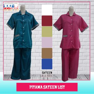 Piyama Sateen List