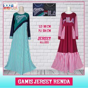 Gamis Jersey Renda