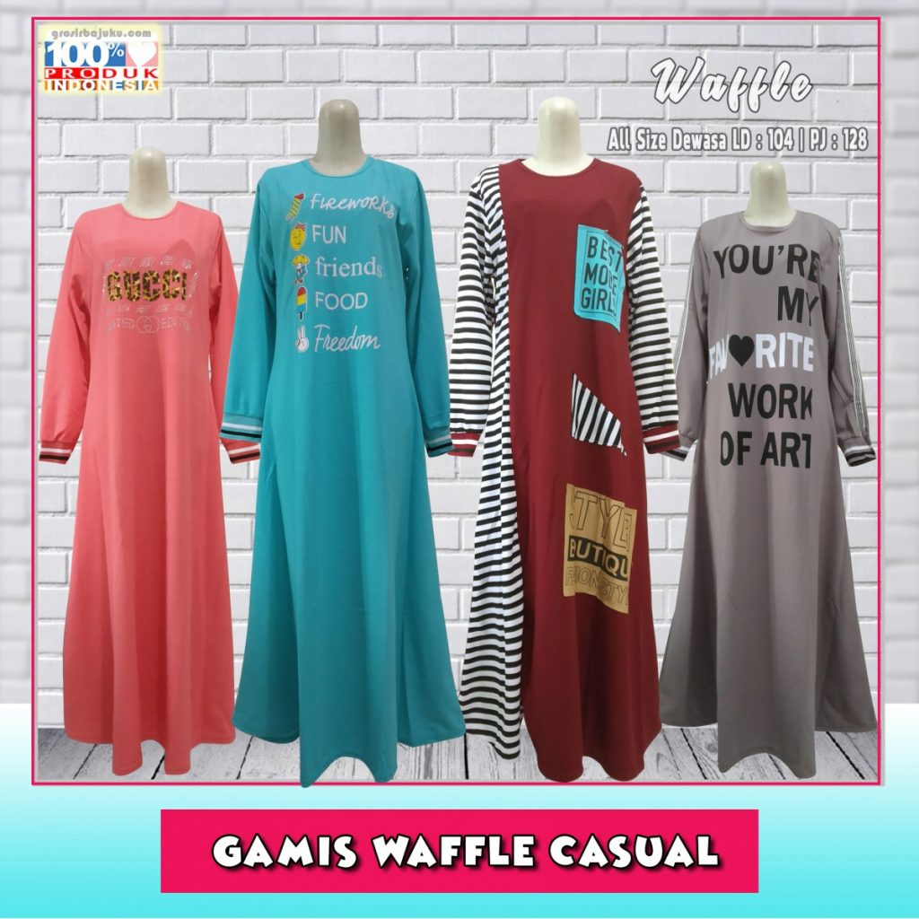 Gamis Waffle Casual