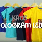 Konveksi Kaos Hologram LED Rp 30,000