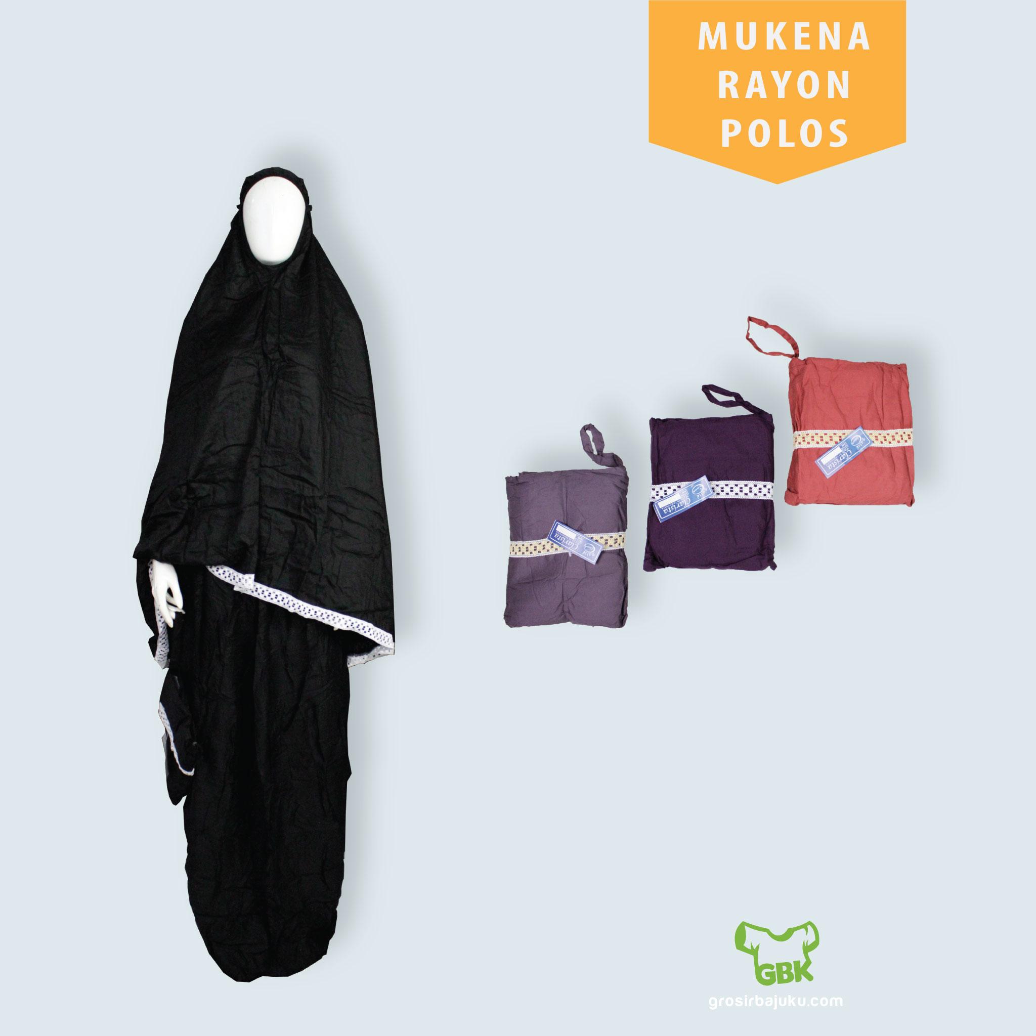 Mukena Rayon Polos Dewasa